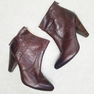 FRYE Regina Heel Bootie Brown Vintage Leather  9M